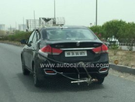 BSVI-compliant Maruti Ciaz Spotted During Its Test Runs