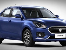 Maruti Dzire Passes 19 Lakh Sales Mark, Tops On Sedan Segment