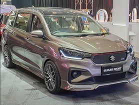 6-seater Maruti Ertiga Sport Spotted For The First Time In India
