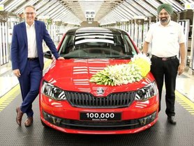 Skoda Rapid Records 1 Lakh Production Milestone in India
