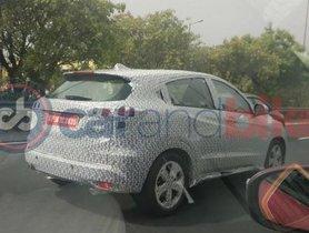Honda HR-V Spotted Testing In India Yet Again