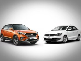 Hyundai Creta and Volkswagen Vento Compete In A Drag Race