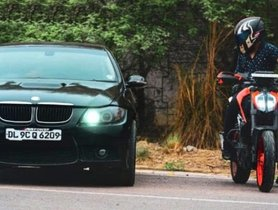BMW 3-Series 320d Competes With The KTM 390 Duke - Guess The Winner!