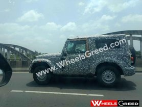 2020 Mahindra Thar Once Again Spotted With Hard Top