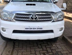 Used Toyota Fortuner car 2011 4x4 MT for sale at low price