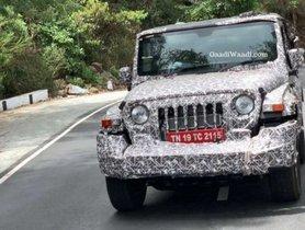 2020 Mahindra Thar Spied On Testing Again