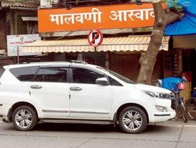 Mumbai Mayor Parks His Toyota Innova Crysta Illegally, Escapes Heavy Fine