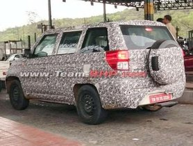 Mahindra TUV300 Plus BS6 Version Spotted Testing
