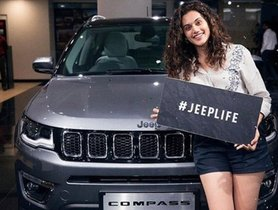 Taapsee Pannu Buys Jeep Compass, Gets A Surprise During Delivery