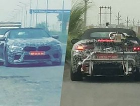 BMW M8 Convertible Spied In India Roads For The First Time