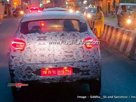 Upcoming Renault Kwid facelift Spotted with C-shaped LED taillights