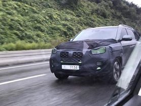 2020 Mahindra Rexton Facelift Spied On Road Test For The First Time Ever