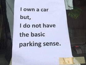 This One-of-a-kind Note On Incorrectly Parked Honda City Is SWEET REVENGE!