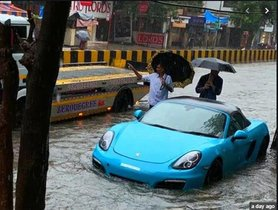 Luxury Cars that Faced the Wrath of Mumbai Floods