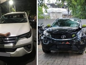 Tata Nexon Keeps Occupants Safe In An Accident With Toyota Fortuner