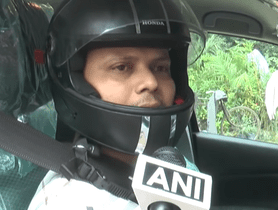 Maruti S-Cross Driver Starts Wearing Helmet After Receiving Wrong Fine