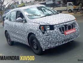 New Mahindra XUV500 Spied For The First Time