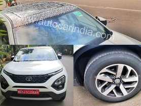 Tata Harrier Spotted With Panoramic Sunroof and 18-inch Alloy Wheels
