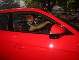 Ranveer Singh Spied In A Red Lamborghini Urus