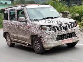 Mahindra TUV300 Plus Facelift Spied Testing Again