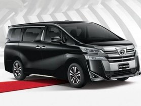 Toyota Vellfire Bookings Opened At Select Dealerships
