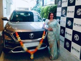 This is Hema Malini's New MG Hector