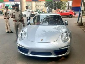 2 Crore Mercedes E-Class, Porsche 911 And Range Rover Caught