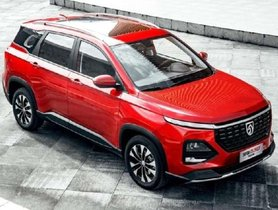 MG Hector 6-Seater SUV Spotted Inside MG Factory
