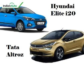 Hyundai Elite i20 vs Tata Altroz - Tata's Newcomer Against Hyundai's Veteran