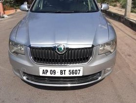 Used Skoda Superb Elegance 1.8 TSI AT car at low price in Hyderabad