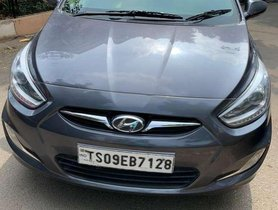 Used Hyundai Fluidic Verna 2014 MT for sale in Hyderabad