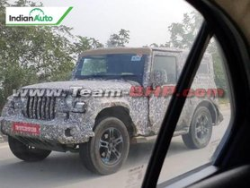 2020 Mahindra Thar Spotted Again Ahead Debut At Auto Expo 2020