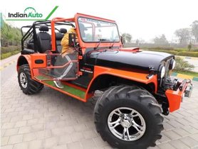 Check Out This Modified Mahindra Thar With 4 Door Layout