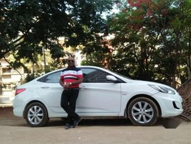2012 Hyundai Verna MT for sale at low price in Hyderabad