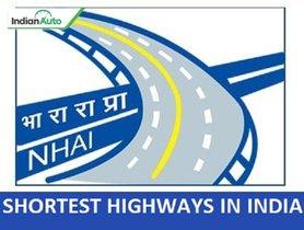 Shortest Highways In India