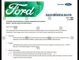 Ford Aspire, Freestyle and Figo Select Colours, 1.5-litre Engine & AT discontinued