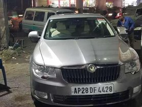 Used Skoda Superb MT car at low price in Hyderabad