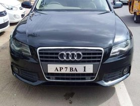 Used Audi A4, 2010, Diesel AT for sale in Hyderabad