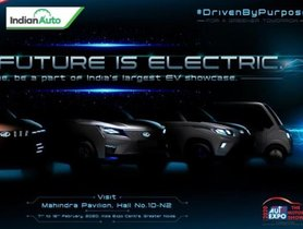 Mahindra eXUV300 and Mahindra eKUV100 Teaser Image Revealed Ahead of Auto Expo 2020