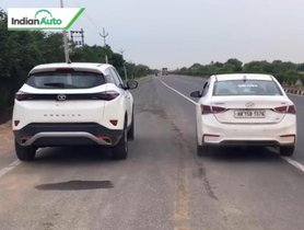 Watch How Hyundai Verna Fares Against Tata Harrier In A Drag Race [Video]