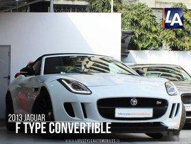 2013 Jaguar F Type 5.0 Convertible R AT for sale at low price in Kolkata