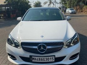 Used 2015 Mercedes Benz E Class AT car at low price in Mumbai