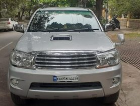 Used Toyota Fortuner 3.0 Diesel 2010 MT for sale in Bangalore