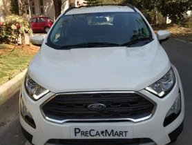 Ford EcoSport Ecosport Signature Edition Petrol 2018 MT for sale in Bangalore