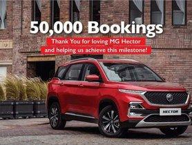 MG Hector Achieves 50,000 Bookings Milestone