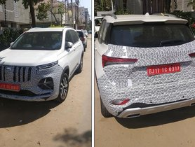 MG Hector Plus to Launch this Summer, Spied Testing