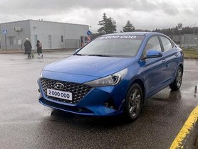 2020 Hyundai Verna Facelift Seen Inside Out in Fresh Images