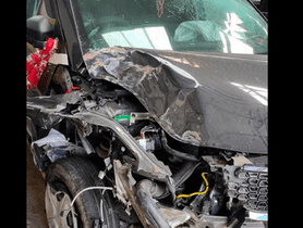 Tata Nexon Collides With Truck On A Hilly Road, All 5 Passengers Safe