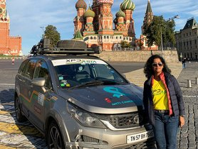 This Woman Successfully Drove A Tata Hexa From India to Russia