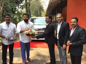 South Indian Superstar Mohanlal Buys First Toyota Vellfire of Kerala